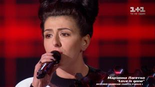 """Марианна Лагетко – """"Love is gone"""" – выбор вслепую – Голос страны 8 сезон"""