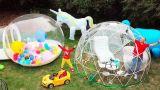 Макс и папа построили новый игровой DIY домик для детей / Max and papa build new play house for kids