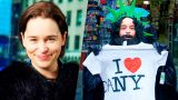 Эмилия Кларк косплеит Джона Сноу на Таймс-Сквер (Озвучка)